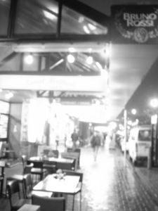 Courtney Place, Wellington. A rainy evening