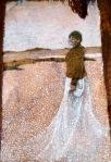 Billy McGrath Painting Woman on Beach