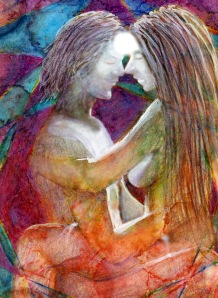 Billy McGrath painting of Tantra couple